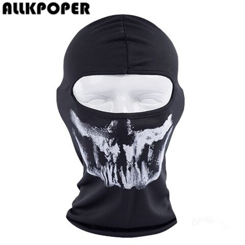 ALLKPOPER  Skull Mask Skeleton Hats Tactical Cosplay Costume Army Balaclava Hood Motorcycle Bicycle Halloween Full Face Masks halloween skeleton style cosplay costume face mask gloves set black white