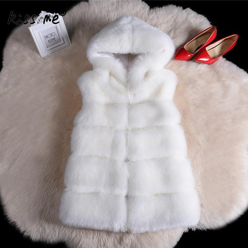 dark Et Fourrure Grey Manteau Manteaux Femmes Causal De D'hiver White Luxe 2018 Taille Gilet Mode Gilets Hoodies black Automne Style Libre Faux qdCwRq