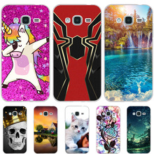 For Samsung Galaxy J3 2015 Case Silicon Cover 2016 Dog Cat Funda Phone Cases