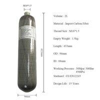 AC102 2L 30Mpa охоты воздуха углеродного волокна гПа/PCP цилиндр воздуха 4500psi Принадлежности для охоты съемки из Китая ACECARE