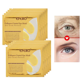 efero 5pair=10pcs 24K Gold Serum Collagen Eye Mask 1