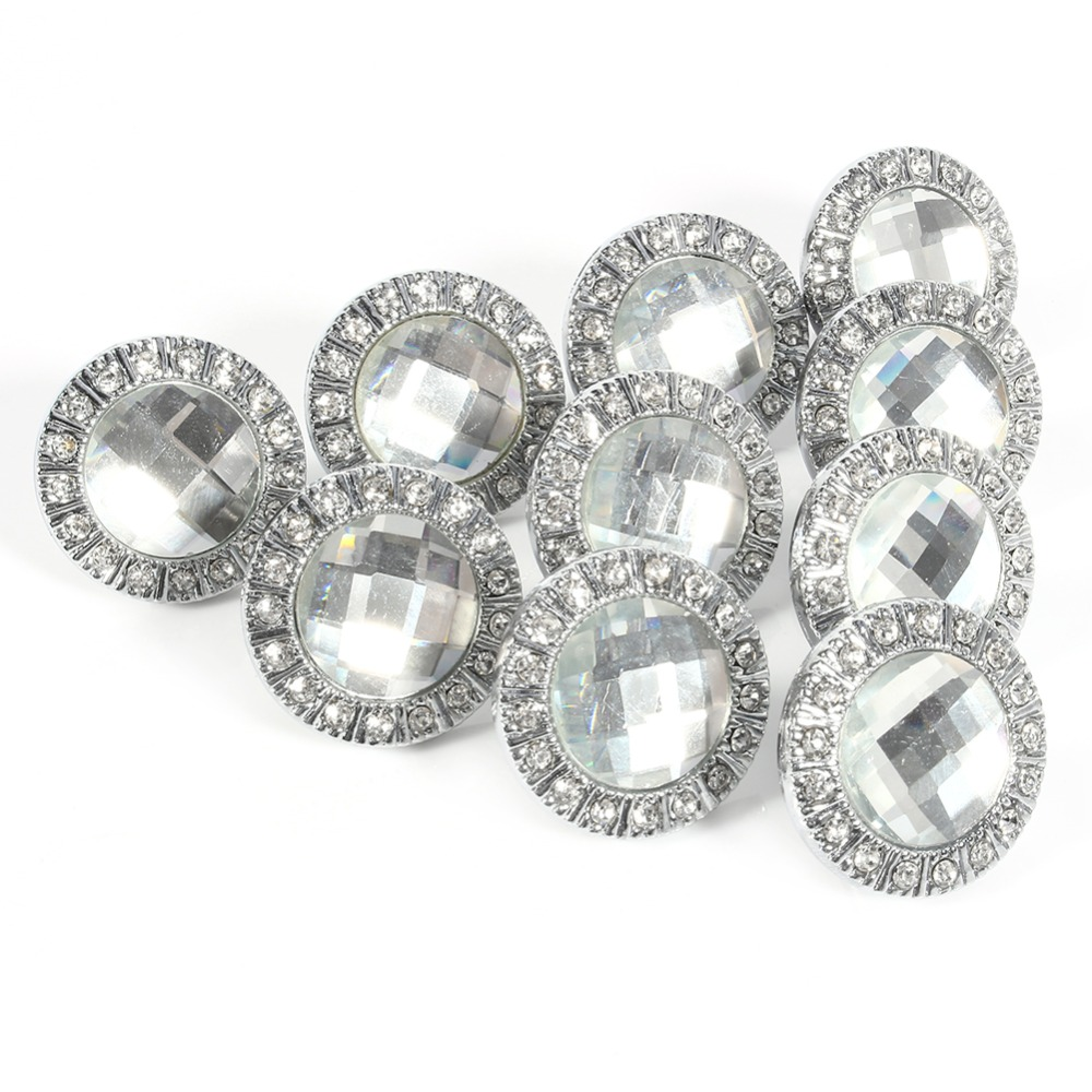 10 pcs 30mm diamond shape crystal glass cabinet knob furniture cupboard drawer pull handle hot