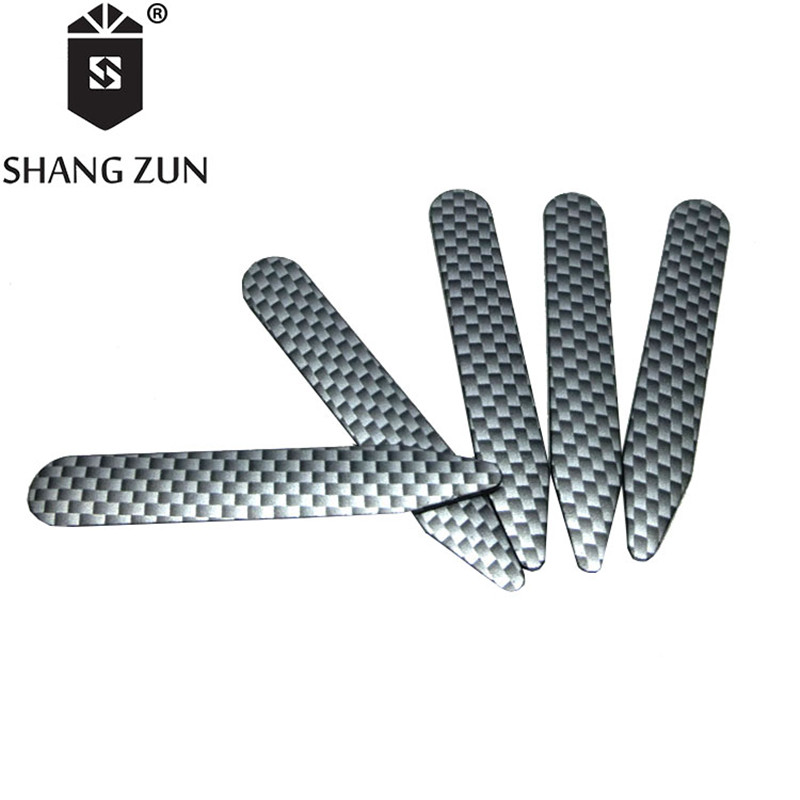 SHANH ZUN 14 Pcs Manufacturers Wood Grain Transfer Printing Collar Inserts ABS Multicolour Collar Stays for Men