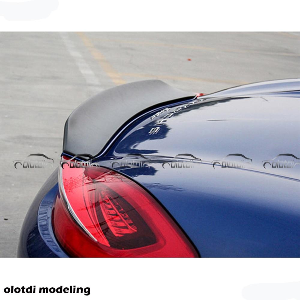 Car Styling Duckbill Mini Rear Trunk Lip Wing Spoiler Splitter for Porsche 981 Cayman 2010 2011 2012 2014 2015 2016