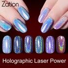 Zation New Sequins Glitters Nail Art Manicure UV Gel Polish Gold Shimmer Mirror Nail Glitter Powder Chrome Dust Pigment Nail