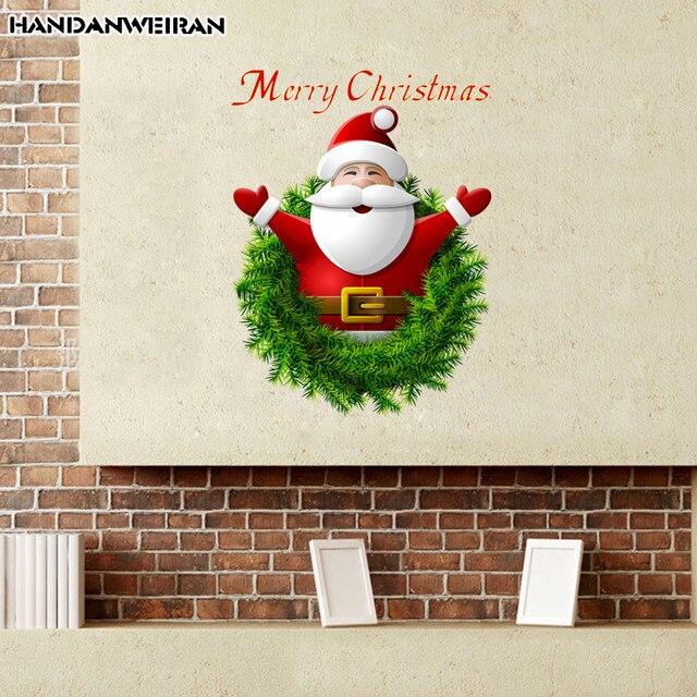Us 149 6 Offsanta Claus Salon Szybę Naklejki Tle ściany Dekoracji ściany Naklejki Dekoracyjne Boże Narodzenie Nowy Rok W Santa Claus Salon Szybę