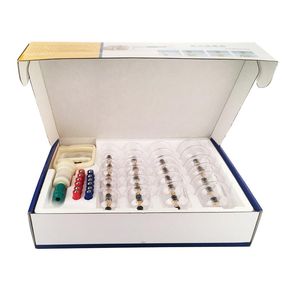 RuiTong 24 tasses ensemble de ventouses sous vide médical canettes sous vide Kit de thérapie dispositif de thérapie par aspiration anti-cellulite masseur corps ventouses