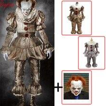 Clown cosplay Stephen Kings It Pennywise Cosplay Costume Adult men women Fancy Halloween horror costume Men adult mask