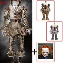 58959c1d9101 Pagliaccio cosplay Stephen del Re Si Pennywise Cosplay Costume Adulto  uomini donne Fantasia di orrore di Halloween costume di Ba.