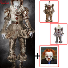 576c0e055 Stephen King é Pennywise do palhaço cosplay Adulto Traje Cosplay homens  mulheres Fantasia Halloween horror traje
