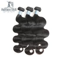 Аманда бразильские виргинские волосы волнистые 100 г/пучок 100% бразильские человеческие волосы переплетения пучок s наращивание тела волна
