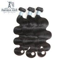 Аманда бразильский девственные волосы Средства ухода за кожей волна 100 г/Комплект 100% бразильский Человеческие волосы ткань Комплект S расши