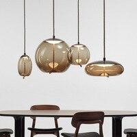 Işıklar ve Aydınlatma'ten Kolye ışıkları'de Modern brok... düğüm cam kolye ışıkları armatür suspendu halat asılı lamba tasarımcı Cafe bar aydınlatma armatürleri damla gemi