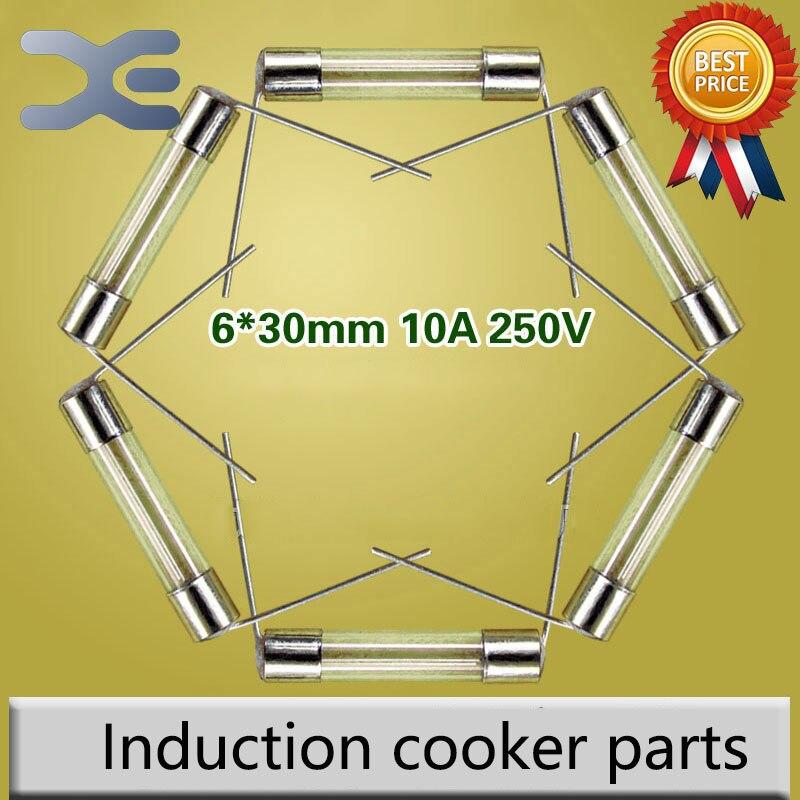 3 Models 5Pcs High Quality 6*30mm 10A 12A 15A 250V Induction Cooker Parts Fuse 5pcs bt138 800e bt138 800 bt138 12a 800v to 220
