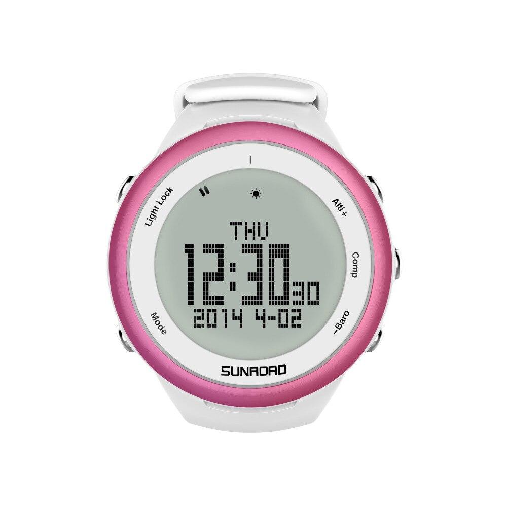 SUNROAD FR852A Sports Men Watch-Pedometer Barometer Altimeter Compass Backlight Waterproof Digital Smart Wristwatch Man (Purple) цена