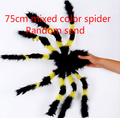 75cm black or random mixed color spider plush scary animals toy soft doll funny gift novelty items kids photography props WYQ