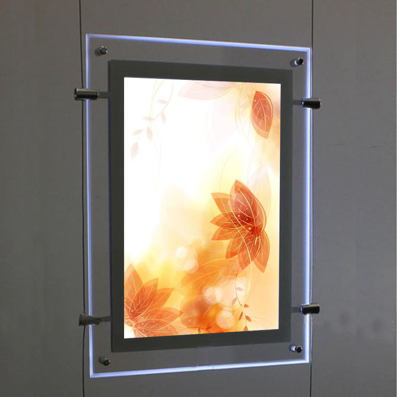 (1unit/column) A3 Double Sided LED Window Displays Light Pocket,Illuminated Window Display Pockets for Estate Agent, Properties