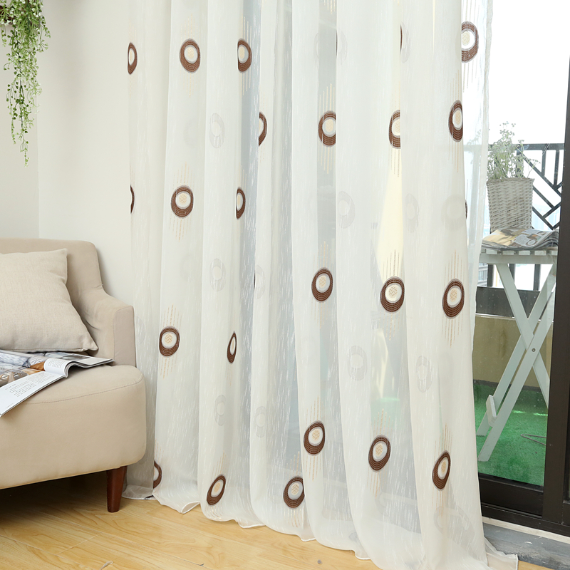 Modern curtain kitchen ready made bronze color curtains ...