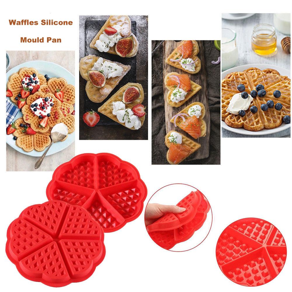 3D Silicone Waffle Mold Maker Pan Microwave Baking Cookie Cake Muffin Bakeware Moule Cooking Tools Kitchen Accessories Supplies