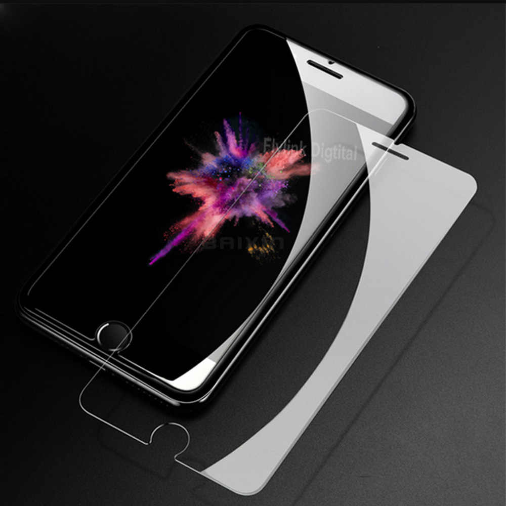 9 H Anti Gores PREMIUM UNTUK iPhone 5s Screen Protector untuk iPhone 8 7 6 5 S 5 S 4 Se X kaca Pelindung Tangguh Film Kasus HD