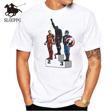 SLOUPPG New 2018 T Shirts Men Captain T-shirt Round Neck Top Tees Man Casual Short Sleeve Summer Clothing