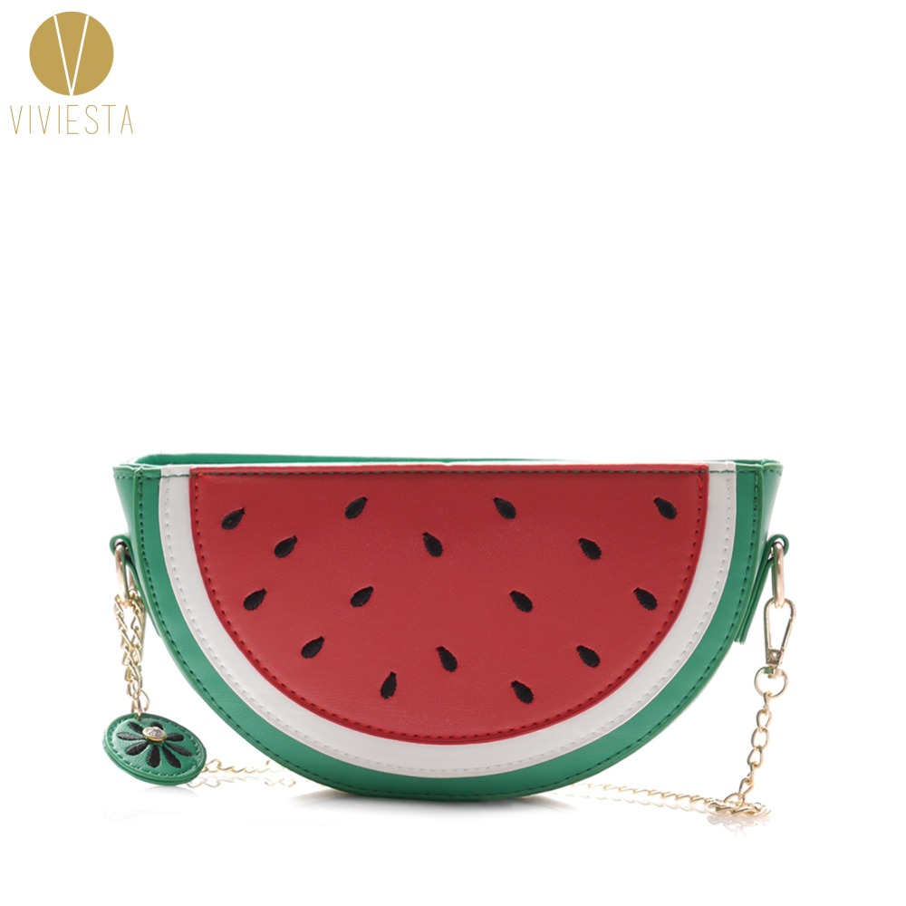 WATERMELON NOVELTY CHAIN ​​BAG Donna 2019 Summer Street Fashion - Borse