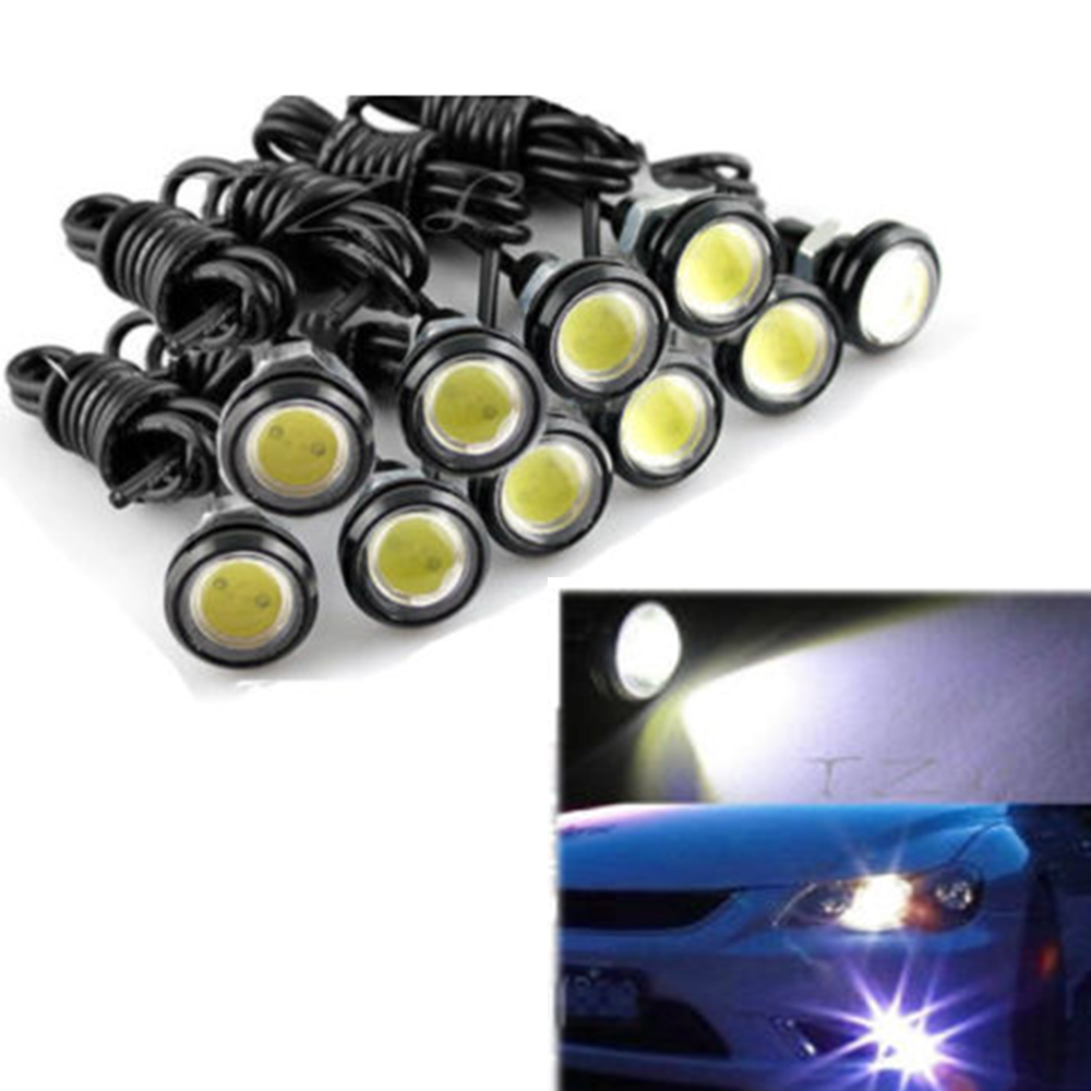 High Brightness Eagle Eye Lamp Universal Car DRL 18MM LED Daytime Running Light IP68 Waterproof Daytime Car Light new arrival a pair 10w pure white 5630 3 smd led eagle eye lamp car back up daytime running fog light bulb 120lumen 18mm dc12v