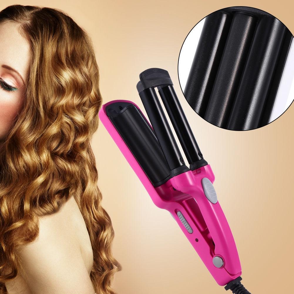 3 Barrels Ceramic Hair Curler Crimper Curling Iron Tong Waving Wand Roller Salon  Professional Hair Styling Tools  Hot Tools