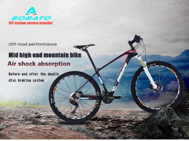 SOBATO vélos 27.5ER carbone complet vélo XC groupe set 700C hardtail vtt vélo carbone vtt roues 650B