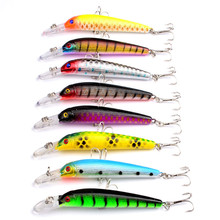 10cm 7g Colourful Fishing Crankbaits eight Colours Environmental ABS Onerous Bait Wobblers Jigging Synthetic Lures For Fishing Sort out