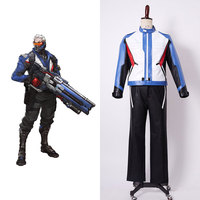 Soldier 76 Bio Jack Morrison Uniform Cosplay Costume Full Set Of Coat+Gloves+Pants Men Male Halloween Party Cosplay Costume