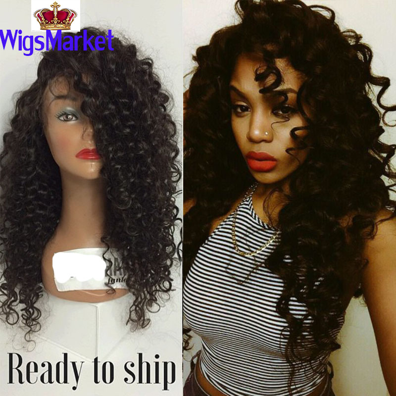 Groovy Aliexpress Com Buy Black Long Afro Gluesless Synthetic Full Lace Hairstyle Inspiration Daily Dogsangcom
