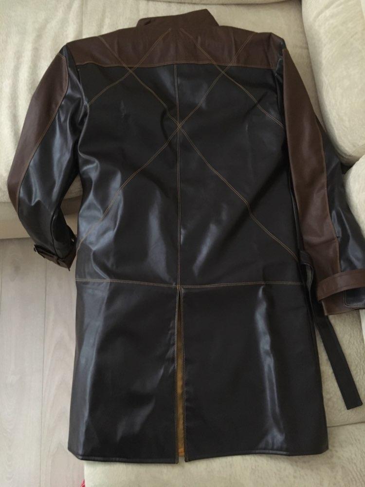 Часы Собаки косплей костюм куртка из искусственной кожи наряд Aiden Pearce ветровка костюмы на Хэллоуин для женщин/мужчин