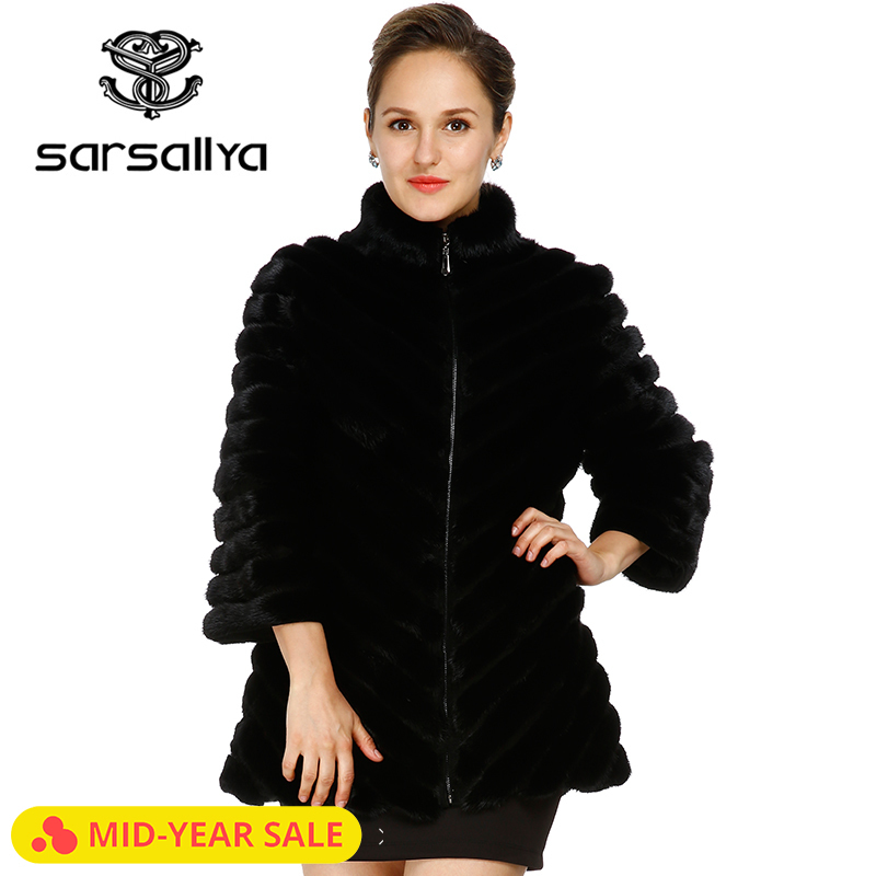 2016 nouveau kolinsky queue cheveux vison manteaux femmes réel fourrure manteau naturel fourrure manteaux femme vestes d'hiver livraison gratuite