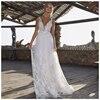 Женское свадебное платье Its yiiya, белое платье с глубоким V образным вырезом и открытой спиной на лето 2019