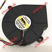 Free Shipping For EVERFLOW BB7515BU DC 12V 0.80A 4-wire 4-Pin connector 70mm Server Blower Cooling fan sunon gb1205phvx 8ay dc 12v 2 2w 2 wire 2 pin connector server blower cooling fan