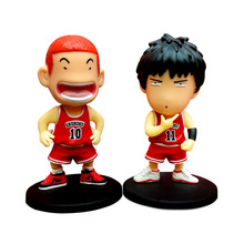 2pcs/1lot 8.5cm Anime Cartoon Slam Dunk Sakura Wood Flowery Feng Shui Doll Decoration Car Accessories Model