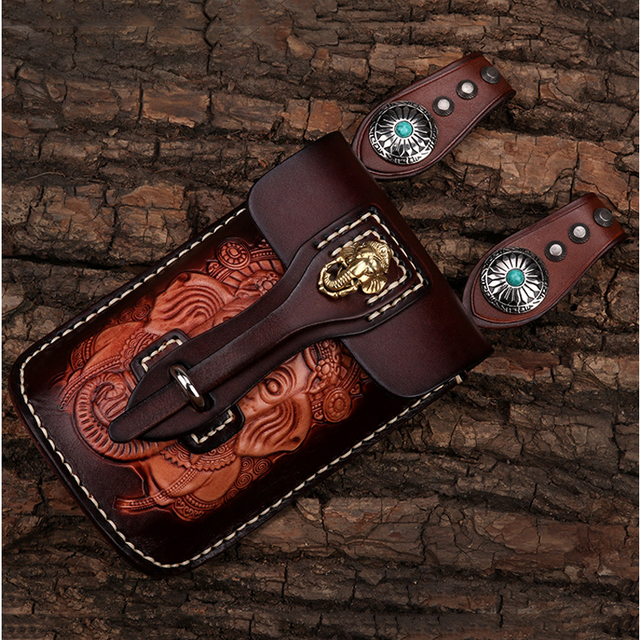 Unique Style Handmade Mobile Phone Bag high quality Leather production for apple iphone x huawei p20lite Oblique Cross Package
