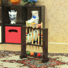 G06-X735 children baby gift Toy 1:12 Dollhouse mini Furniture Miniature rement billiards 1pcs