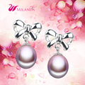 2016 New Fashion Pearl Jewelry 100% Natural Pearl Earring 925 Sterling Silver Pearl Stud Earrings Gift Women Accessories Earring