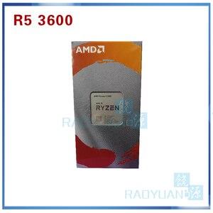 Image 2 - معالج لوحدة المعالجة المركزية AMD Ryzen 5 3600 R5 3600 3.6 GHz ستة النواة اثني عشر خيط 7NM 65W L3 = 32M 100 000000031 مقبس AM4 مع مروحة تبريد