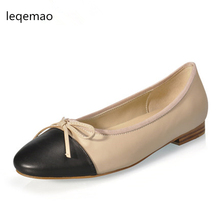 2018 new women leather shoes woman single shoes shallow round tow spring autumn ballet flats shoes women casual shoes New Fashion Spring Autumn Women High Quality Office Lady Shoes Cow Leather Round Toe Bowite Ballet Flats Casual Dress Shoes