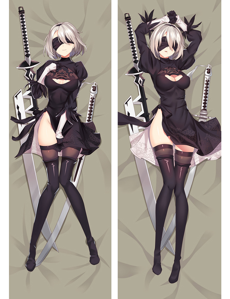 New Game NieRAutomata YoRHa 2B Dakimakura Hugging Body Pillow Case Cover 150cm 73068 (2)