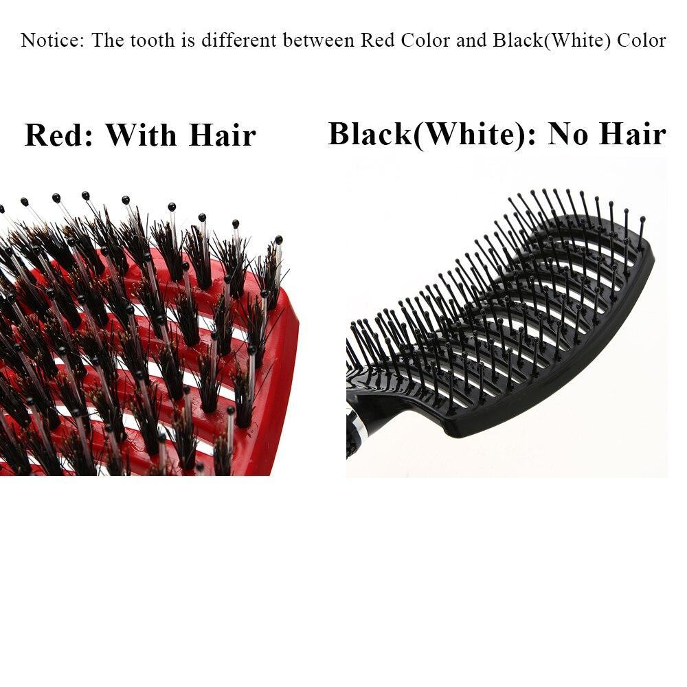 1 Pc Hair Scalp Massage Comb Hairbrush Bristle Nylon Women Wet Curly Detangle Hair Brush For Salon Hairdressing Styling Tools #6