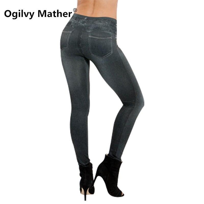 Bleed Mika Comprar Moda Imitacion Jeans Pantalones Leggings Mujer Leggins Skinny Venta Caliente Gimnasio Delgado Elastico Legging Push Up Legins Online Baratos