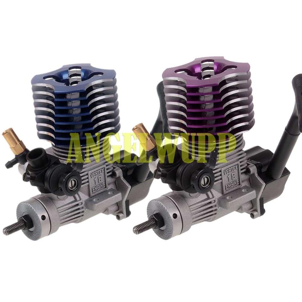 02060 PURPLE HSP VX 18 Engine 2.74cc Pull Starter RC 1:10 Nitro Car Buggy EG630 hsp 02060 18 engine 2 74cc pull starter for 1 10 nitro car buggy eg630