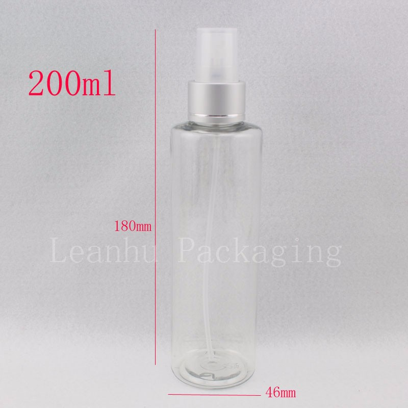 200ml-round-clear-bottle-with-silver-spray