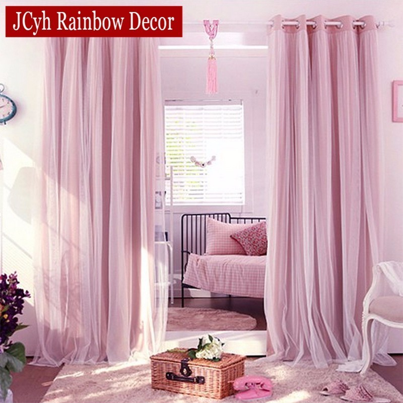 Bedroom Curtains And Drapes: Aliexpress.com : Buy Korean Style Blackout Curtains+voile