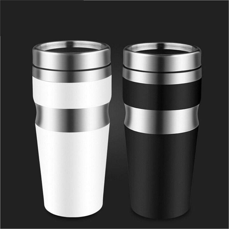 New Fashion Thermos Cup Not Leak proof Stainless Steel Thermoscup Car Water Cup Coffee Mug 400ML