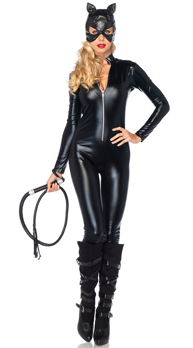 Hot-Sale-Sexy-Costume-Faux-Leather-Black-Sexy-Catwoman-Latex-Catsuit-Erotic-Cat-Costume-Halloween-Cosplay (1)